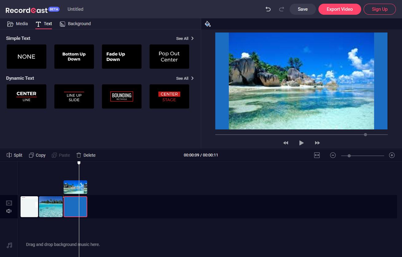RecordCast video editor